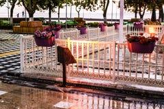 Città dopo piovosità pesante - Turchia di vacanze estive Fotografia Stock
