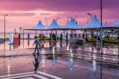 Città dopo piovosità pesante - Turchia di vacanze estive Fotografia Stock Libera da Diritti