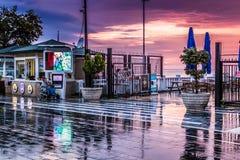 Città dopo piovosità pesante - Turchia di vacanze estive Fotografie Stock Libere da Diritti