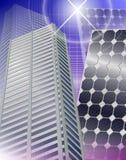 Città e comitati solari illustrazione vettoriale