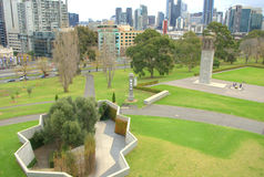 Città e giardini di Melbourne Immagine Stock Libera da Diritti