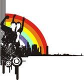 Città e gioventù illustrazione di stock