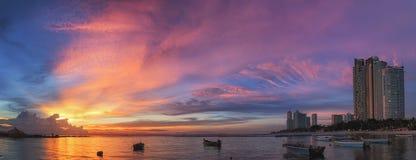 Città e mare di Pattaya Fotografia Stock Libera da Diritti