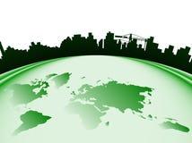 Città e mondo Immagine Stock