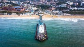 Città e pilastro di Bournemouth immagine stock