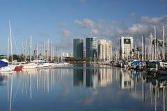 Città e porto Immagini Stock Libere da Diritti