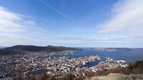Città e porto di Bergen Fotografia Stock Libera da Diritti