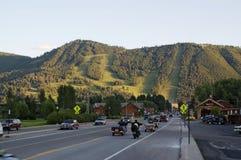 Città e stazione sciistica del Jackson Hole immagine stock libera da diritti