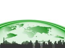 Città e terra Immagine Stock