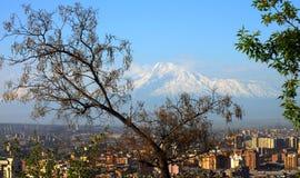 Città ed il monte Ararat di Yerevan immagine stock