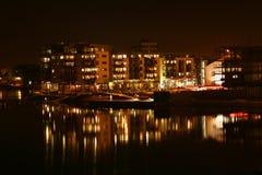 Città entro la notte Fotografia Stock