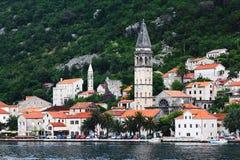 Città europea sulla costa Fotografie Stock