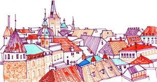 Città europea Tallinn, capitale dell'Estonia Fotografia Stock Libera da Diritti