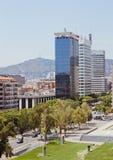 Città europee, Barcellona Fotografie Stock Libere da Diritti