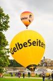 Città facente un giro turistico di Dresda dall'aerostato. Fotografia Stock Libera da Diritti
