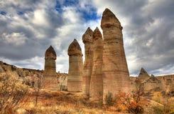 Città famosa Cappadocia in Turchia Immagine Stock Libera da Diritti
