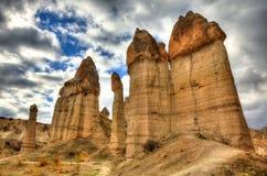Città famosa Cappadocia in Turchia Fotografie Stock Libere da Diritti