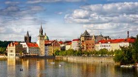 Città famosa di Praga Fotografie Stock Libere da Diritti