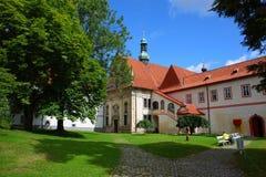 Città famosa, krumlov cesky in estate 2011 Fotografie Stock