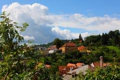 Città famosa, krumlov cesky in estate 2011 Immagine Stock