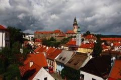 Città famosa, krumlov cesky in estate 2011 Fotografia Stock Libera da Diritti