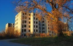 Città fantasma abbandonata Russo Immagini Stock Libere da Diritti