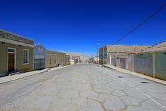 Città fantasma Chuquicamata, Cile Fotografie Stock Libere da Diritti