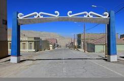 Città fantasma Chuquicamata, Cile Immagini Stock