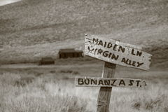 Città fantasma del Bodie Fotografia Stock