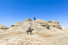 Città fantasma del mondo allo Xinjiang Fotografia Stock Libera da Diritti