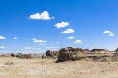 Città fantasma del mondo allo Xinjiang Fotografie Stock