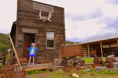 Città fantasma della miniera d'oro di Molson Fotografie Stock Libere da Diritti