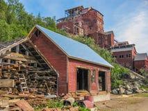 Città fantasma della miniera e, Kennicott, Alaska Fotografie Stock Libere da Diritti