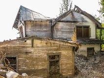 Città fantasma della miniera e, Kennicott, Alaska Immagine Stock