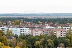 Città fantasma di Pripyat in Ucraina Fotografia Stock