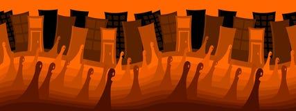 Città fantasma per Halloween (ripetibile) Fotografie Stock