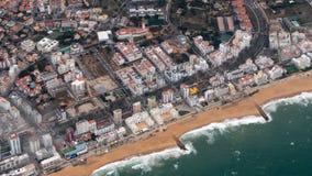 Città Faro di puzzle da obove fotografie stock