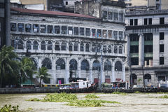 Città Filippine di manila di architettura del fiume di Pasig Immagine Stock Libera da Diritti