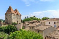 Città fortificata Carcassonne interna Immagine Stock Libera da Diritti