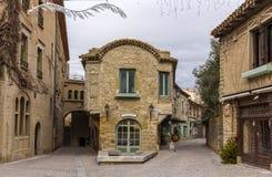 Città fortificata Carcassonne interna, Francia Fotografia Stock