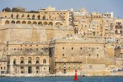 Città fortificata di La Valletta Malta Fotografia Stock Libera da Diritti