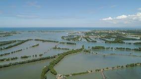 Città fra l'acqua in mangrovie Fotografia Stock Libera da Diritti
