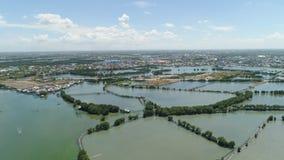 Città fra l'acqua in mangrovie Fotografie Stock Libere da Diritti