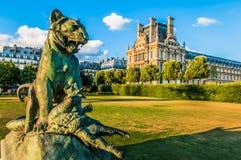 Città Francia di Le Louvre Parigi Fotografia Stock Libera da Diritti