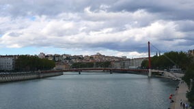 Città Francia di Timelipse Lione video d archivio