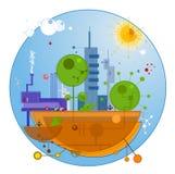 Città futura Immagine Stock Libera da Diritti