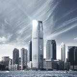 Città futura NYC Fotografie Stock Libere da Diritti