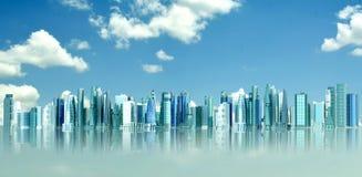 Città futuristica Fotografie Stock Libere da Diritti