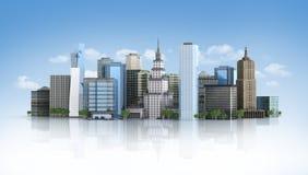 città futuristica 3d illustrazione vettoriale