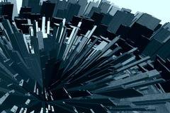 Città futuristica surreale Immagini Stock